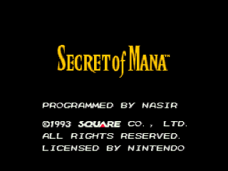 Screenshot Thumbnail / Media File 1 for Secret of Mana (USA) [En by FuSoYa v1.0] (Variable Width Font Edition)